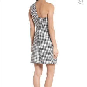 5aa2e469882d Sam Edelman Dresses - Sam Edelman one shoulder gingham dress